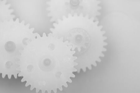 Part of white plastic gears