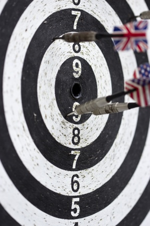 missed: arrows missed target, fail-diligent.  Stock Photo
