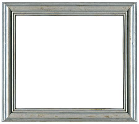 silver frame. Isolated over white background with clipping path Stock Photo - 22743988