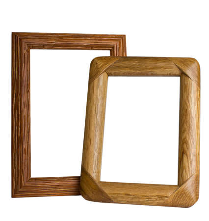 wooden frames isolated on white background  photo