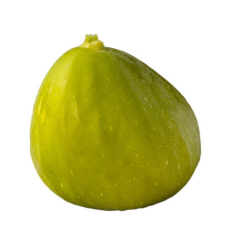 Green fig isolated on white background  photo