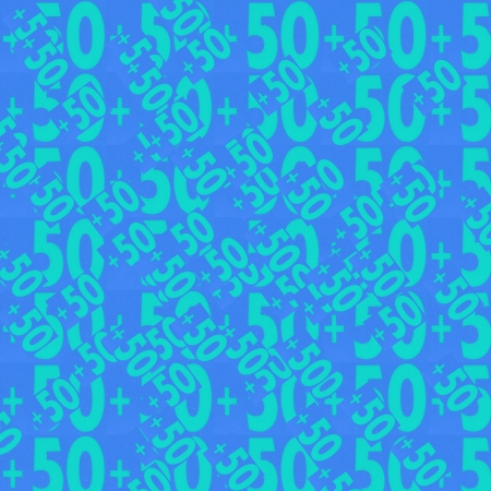 50  numbers background, Designed background. Collage made of newspaper clippings. photo