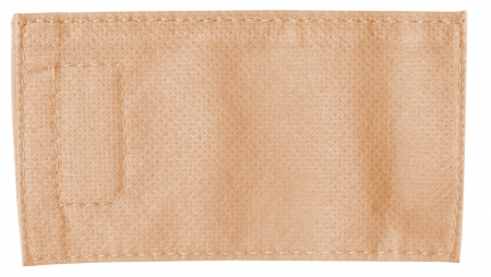 Old textile tag, isolated
