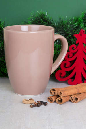 cup of tea, Christmas table decoration photo