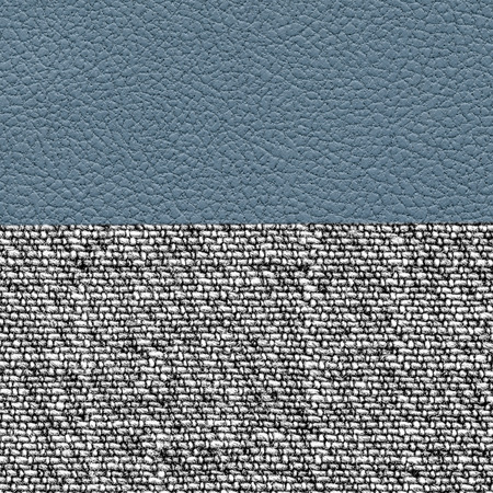 tweed: background of blue  leather and gray tweed Stock Photo