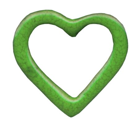 green heart isolated on white background Stock Photo