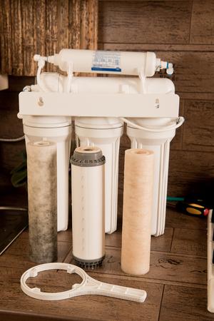 water filter. repair of the filter. Standard-Bild