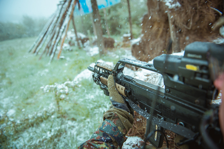 저격수와 자동 소총. 에어 소프트