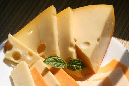 fatness: swiss cheese Stock Photo