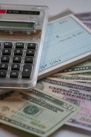 chequera: calculadora, chequera y nos moneda