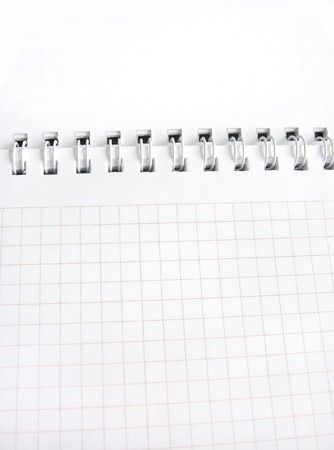 scratchpad: open white notebook in cell Stock Photo