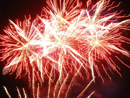 Beautiful celebratory fireworks. New Year, Fourth of July photo
