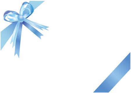 Blue ribbon isolated on a white background. illustration.