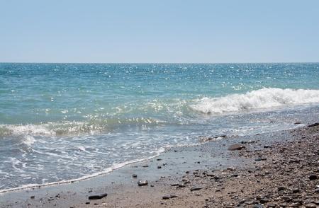Blue sea and sky. Bright summer day. Black Sea, Yalta, Crimea, Ukraine  photo