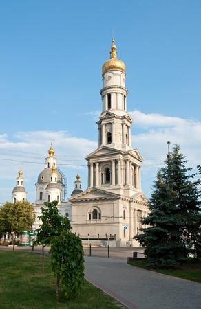 kharkov: Assumption Cathedral, Kharkov, Ukraine.  Architectural style: baroque, classicism, 17th Century Stock Photo