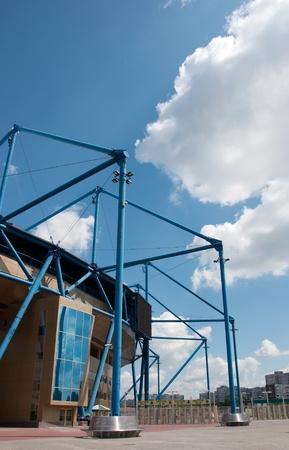 Metalist Stadium, Kharkov, Ukraine.  The stadium hosts Football Club Metalist Kharkov and will host UEFA EURO Championship in 2012.