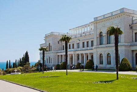 fasade: Livadia Palace, Yalta, Crimea, Ukraine. Built in 1911 by architect Krasnov.