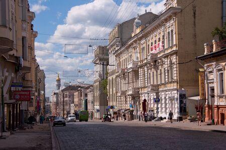 kharkov: Sumskaya street - central street in Kharkov. Kharkov - city of EURO-2012, Ukraine Editorial