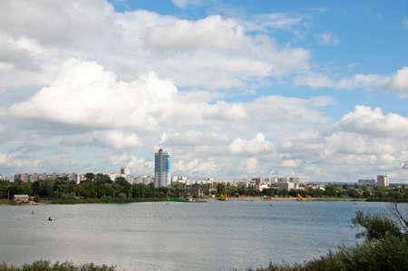 bilding: Kharkov river view in Kharkov city, Ukraine