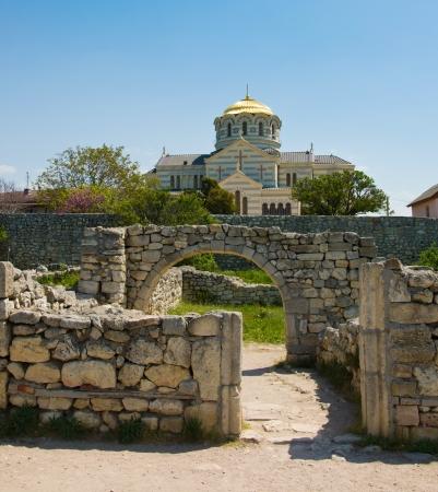 cathedral of St  Vladimir  Chersonesus Taurica near Sevastopol in Crimea, Ukraine Stock fotó