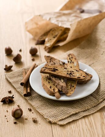 traditional Italian biscotti cookies. Christmas sweet Stock Photo - 16242219