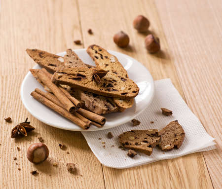 traditional Italian biscotti cookies. Christmas sweet Stock Photo - 16391374