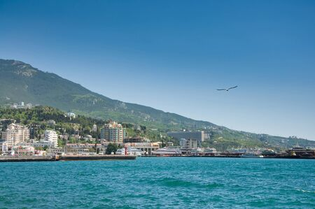 Black Sea, Yalta, Crimea, Ukraine  Bright summer day  Stock Photo - 17974006
