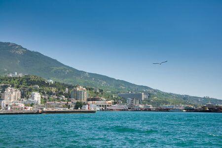 Black Sea, Yalta, Crimea, Ukraine  Bright summer day Stock Photo - 17974006