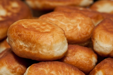 Tasty homemade fried pies, close-up