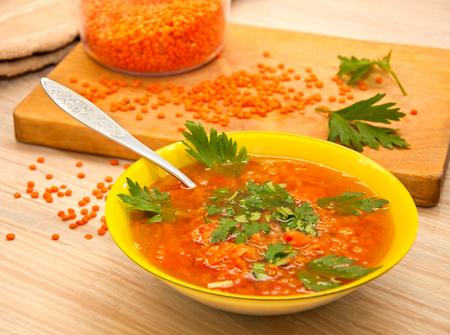 the lentil soup with parsley Stock fotó