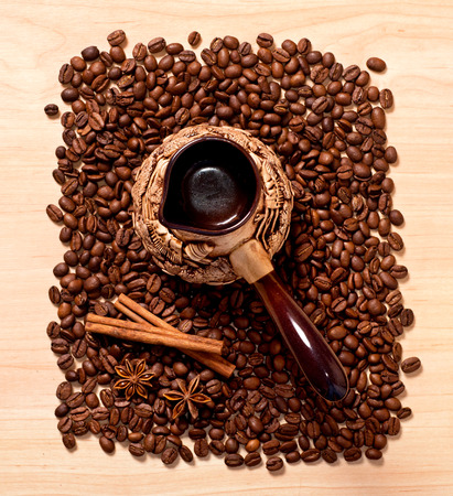 stimulated: the coffee and star anise and cinnamon, top view