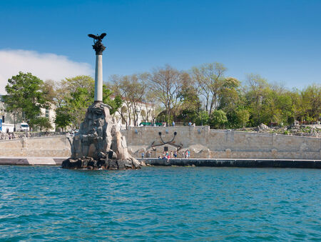 Monument to the Scuttled Warships in the Sevastopol, Crimea (built in 1905 y.) photo