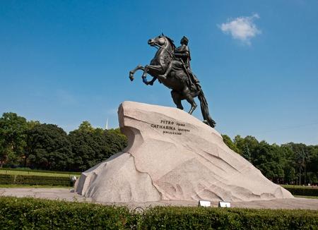 uomo a cavallo: Il monumento a Pietro il Grande il Cavaliere di bronzo in Staint-Petersburg, Russia