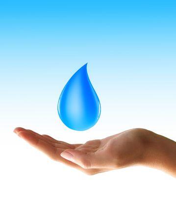 higiena: waterdrop w ręce