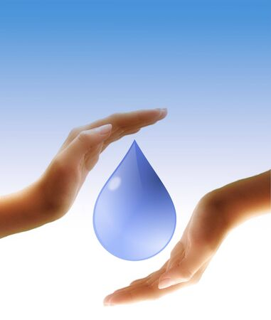 waterdrop in hands photo