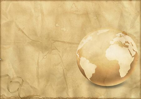 fade out: Vintage globe Stock Photo