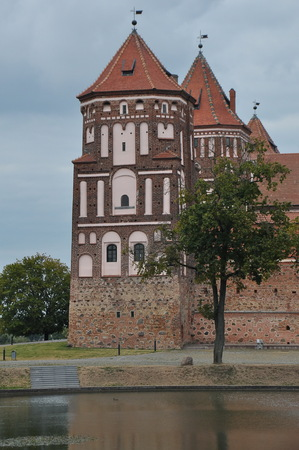 Ancient palace of the castle in Belarus. Editorial