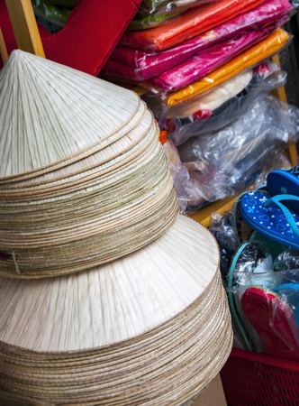 National Vietnamese hats Aozay on the market