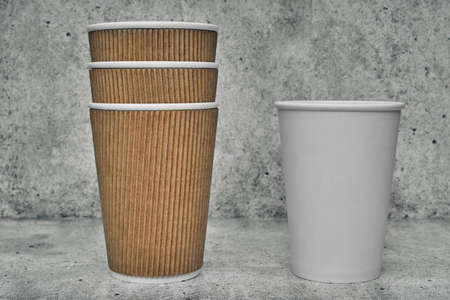 Paper cup. Recycling. Eco-friendly disposable tableware