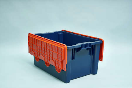Plastic storage boxes. Boxes for the delivery of products. Orderly storage