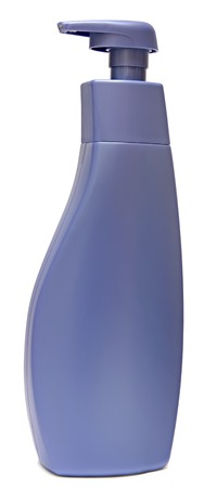 sud: Plastic Bottle with liquid soap on a white