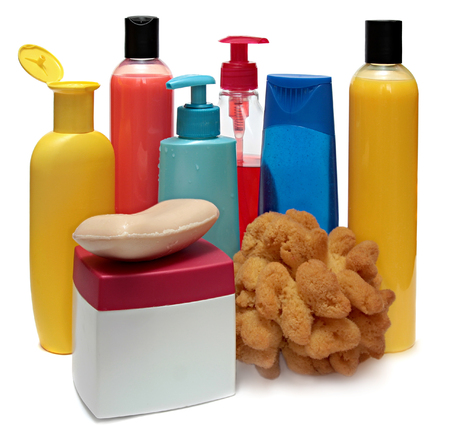 lot of different cosmetic products for personal care