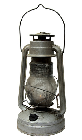 oil lamp: oil lamp. old kerosene lamp isolated on white . oil-stove