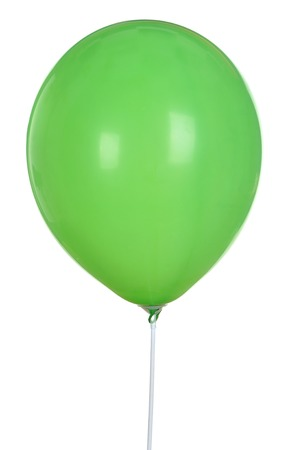 Green Balloon Isolated On White Background . Toy