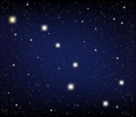 ursa: cosmos. Constellation URSA Major. Illustration