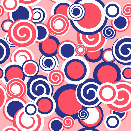 Vector background with circles and spirals. abstract seamless background Vector