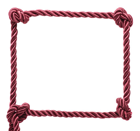 Rope frame isolated on a white background photo