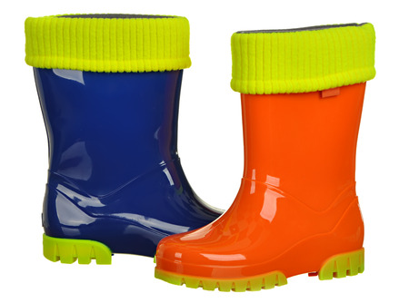 wellie: rubber boots for kids isolated on a white background