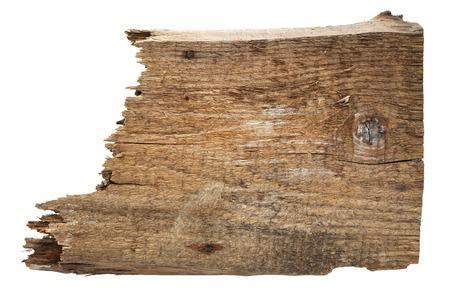 古い木の板は、白い背景で隔離。古い木の板は、白い背景で隔離