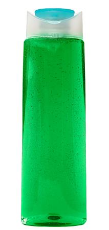 de higiene: Botella cosmética cerrado o Higiene Plástico De Gel, jabón líquido, loción, crema, champú. Aislado En Fondo Blanco.